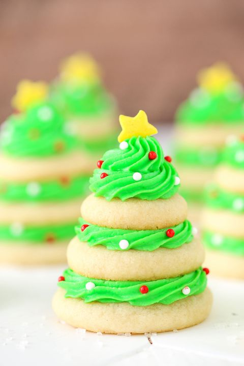 Krismas Tree Cookie Stacks Vertical