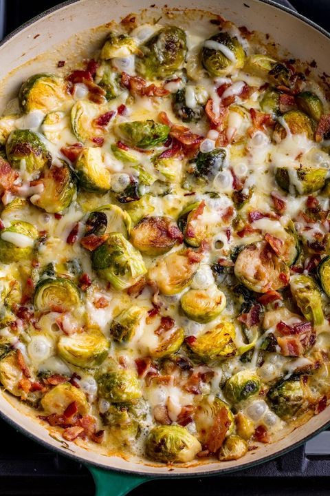 Cheesy Brussels Sprouts Vertical