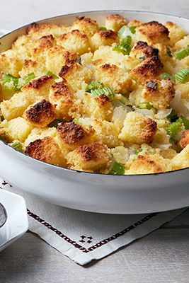 Classico flavors shouldn't be ignored just because they're not as flashy as new trands. Two textures — crunchy and soft — up the ante on this simple stuffing.Recipe: Cornbread Dressing