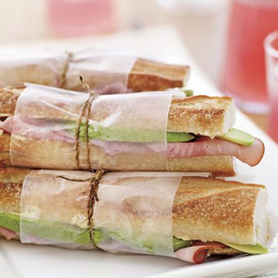 Leisti the mild, nutty flavor of avocados stand in for Swiss cheese in a classic ham sandwich.