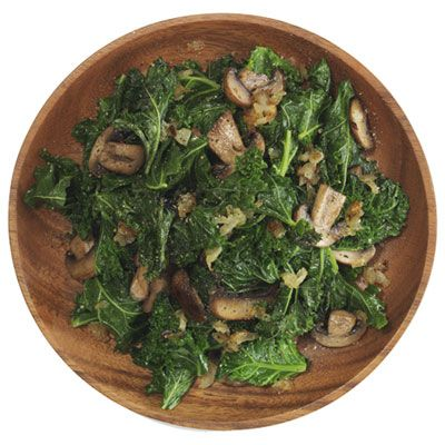 Kale with Mushrooms