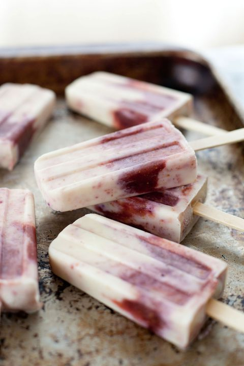 miele roasted fig and goat cheese popsicles