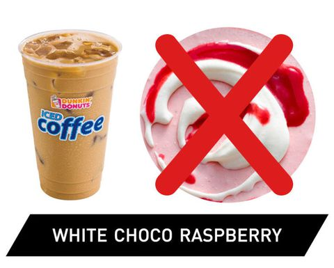 Dunkin' Donuts Iced Coffee Ranked - White Chocolate Raspberry