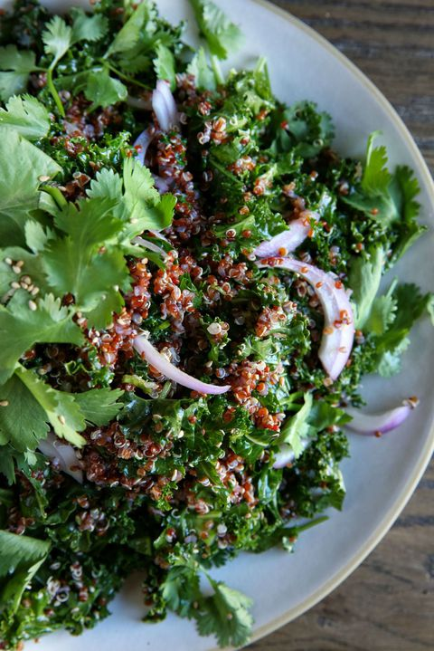 ケール and Red Quinoa Salad with Spicy Sesame Dressing Recipe