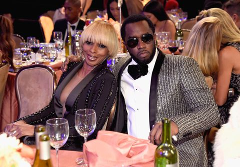 Sean Combs and Mary J Blige