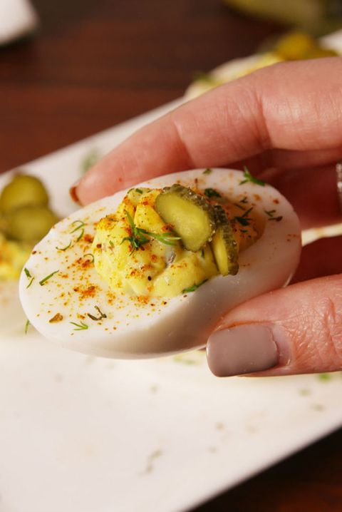 Pickle Deviled Eggs